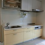 流しの上にそのまま乗せられる食器乾燥機付き、食器棚に入れる手間も省けます(キッチン)